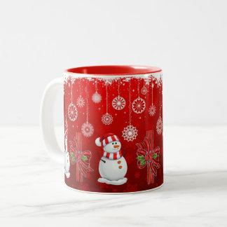 SUZANNE ELIZABETH CHRISTMAS COLLECTION Two-Tone COFFEE MUG