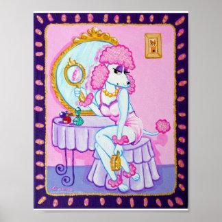 Suzette the Pink Poodle Print