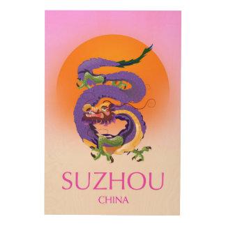 Suzhou China Dragon travel poster