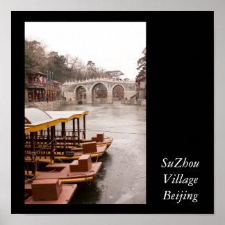 SuZhou Village Beijing Poster