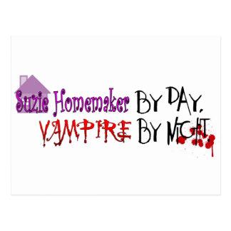 Suzie Homemaker by day, Vampire by night Postcard