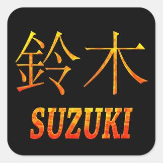 Suzuki Monogram Square Sticker
