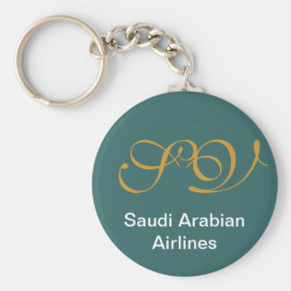 SV, Saudi Arabian Airlines Basic Round Button Key Ring