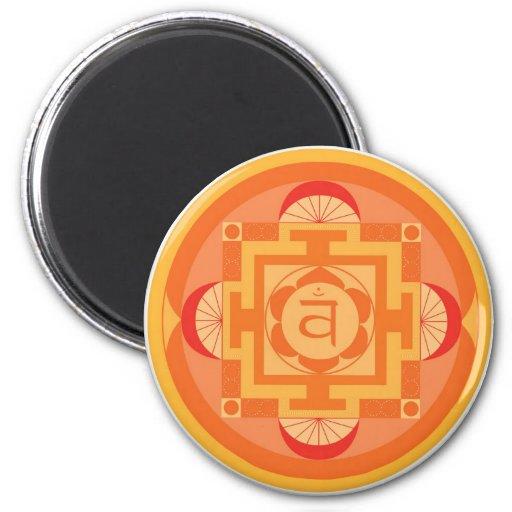 Svādhisthāna Chakra Mandala Fridge Magnets