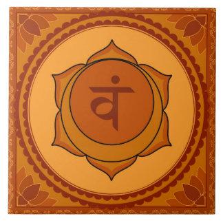 Svadisthana or Sacral Chakra Large Square Tile