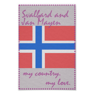 Svalbard and Jan Mayen My Country My Love Poster