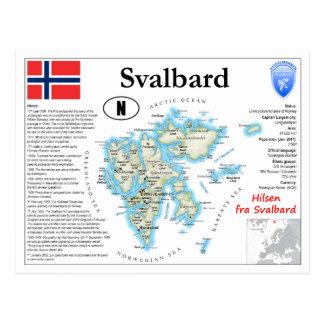 Svalbard Map Postcard
