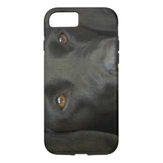 Svart Labrador hund iPhone 7 Case