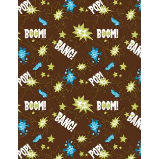 Boom Bang Brown Wallpaper