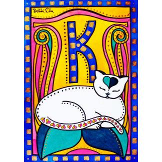 Cat Art - Peace And Love