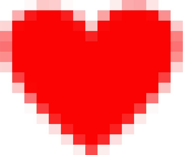 Pixel Heart 8/ 16 bit