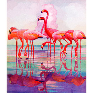Pink Flamingos by Francis Lee Jaques