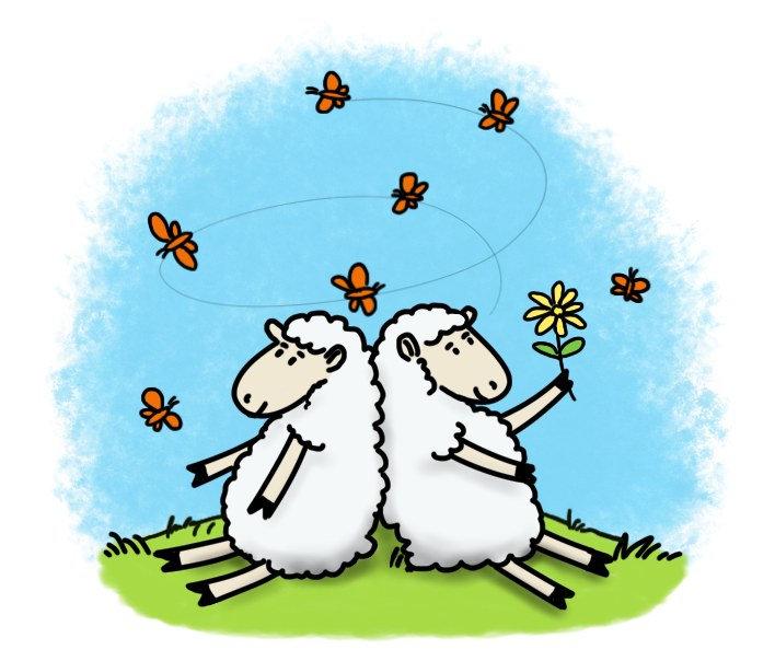 Sheep cartoons.