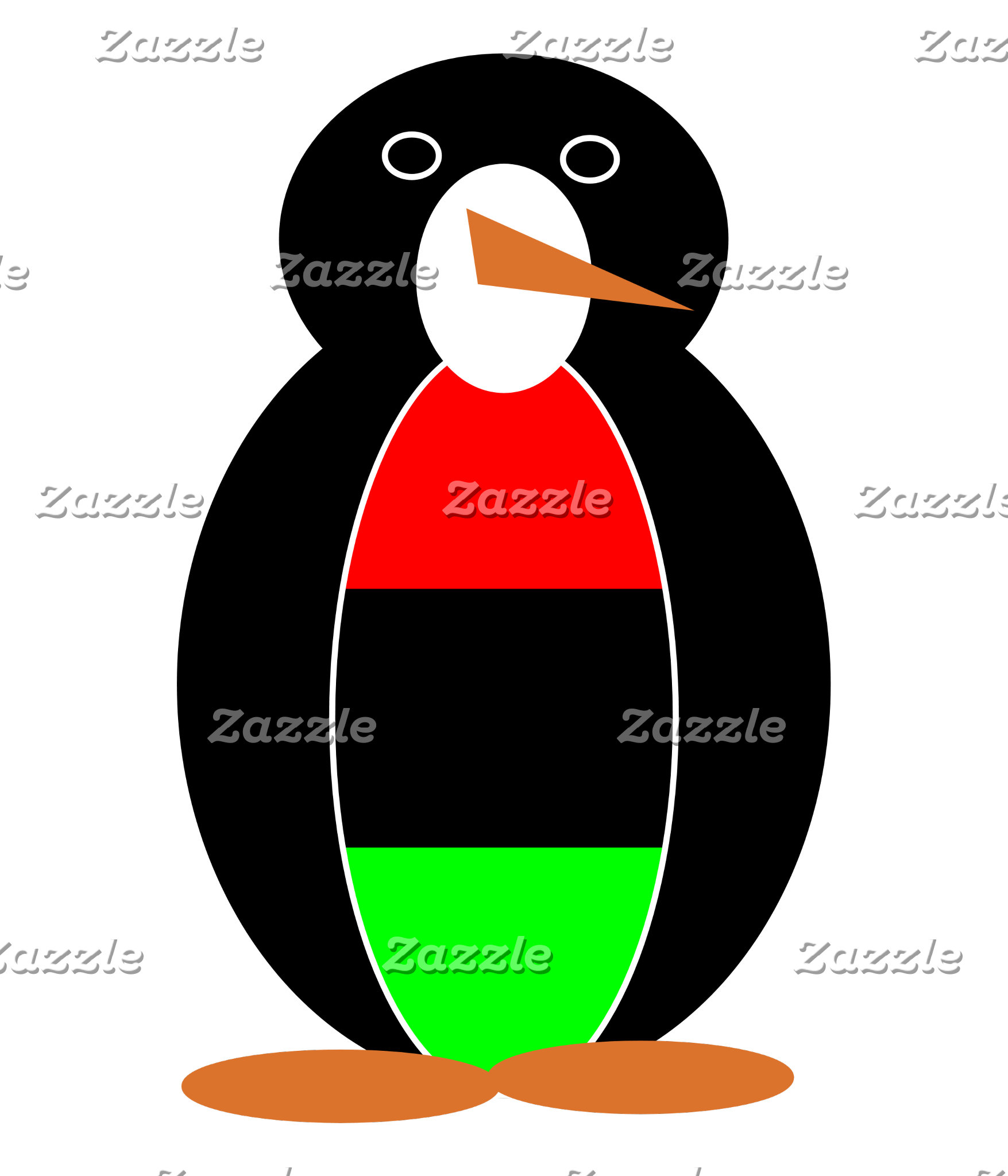 African American Holiday Mr. Penguin