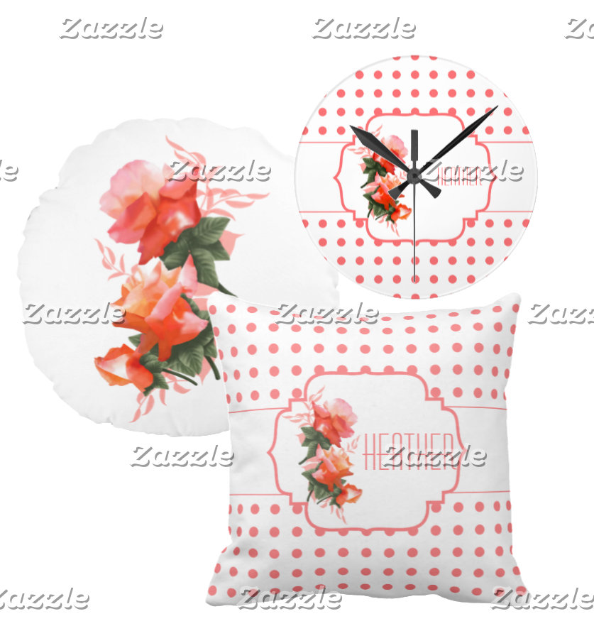 Spring Flower Coral Orange Rose Florals