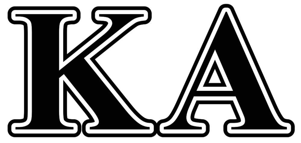 Kappa Alpha Order Black Letters