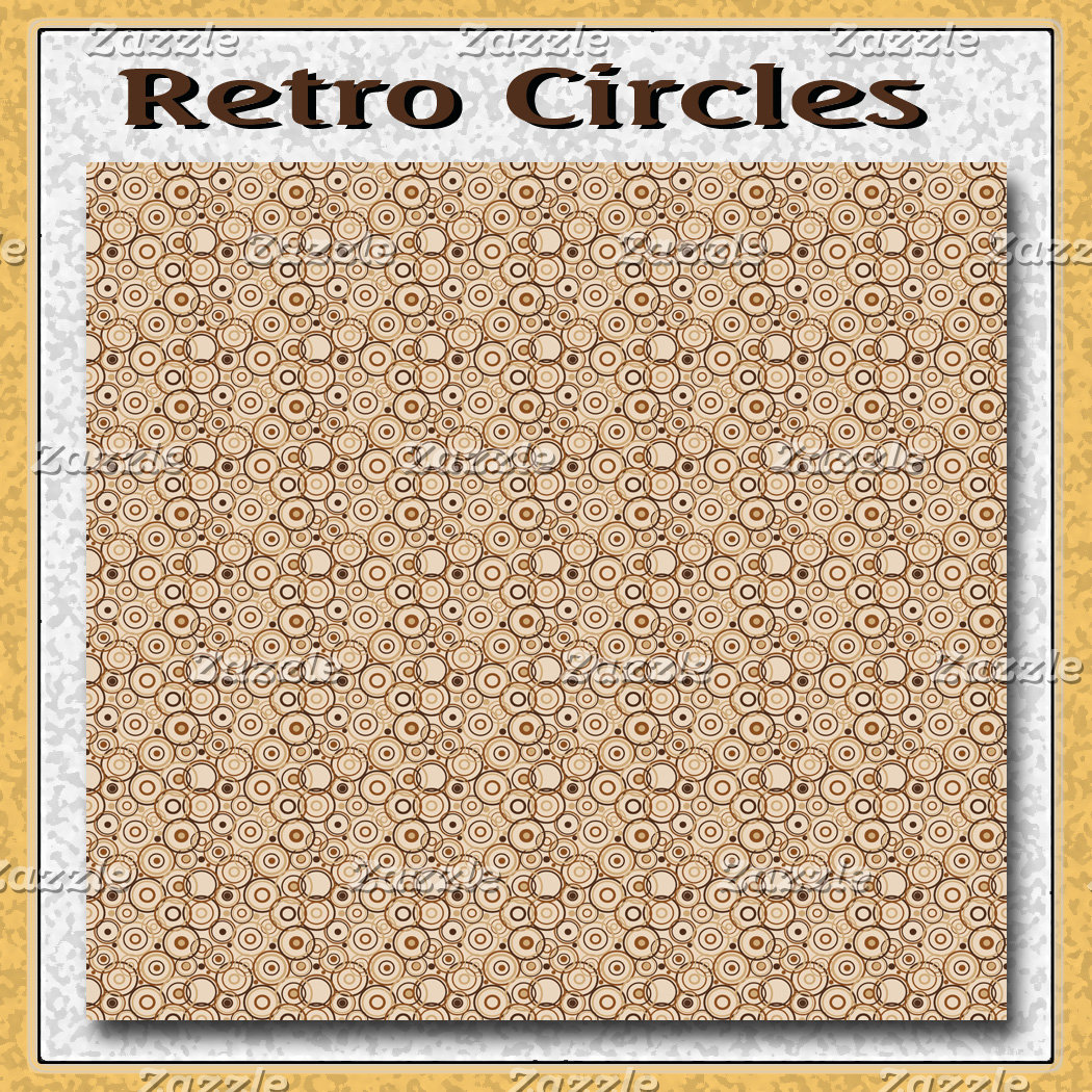 Brown Retro Circles Pattern
