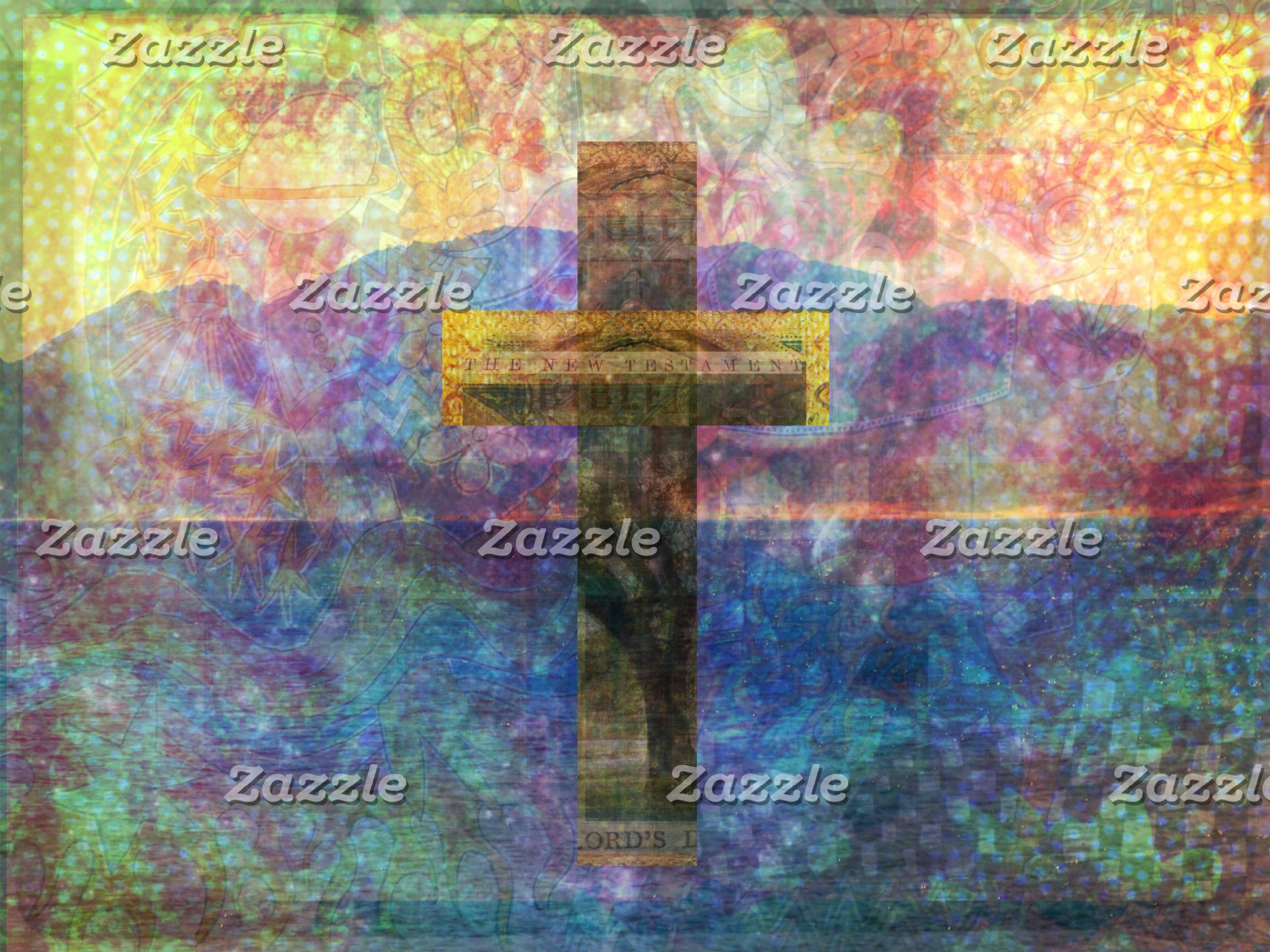 Contemporary Cross painting