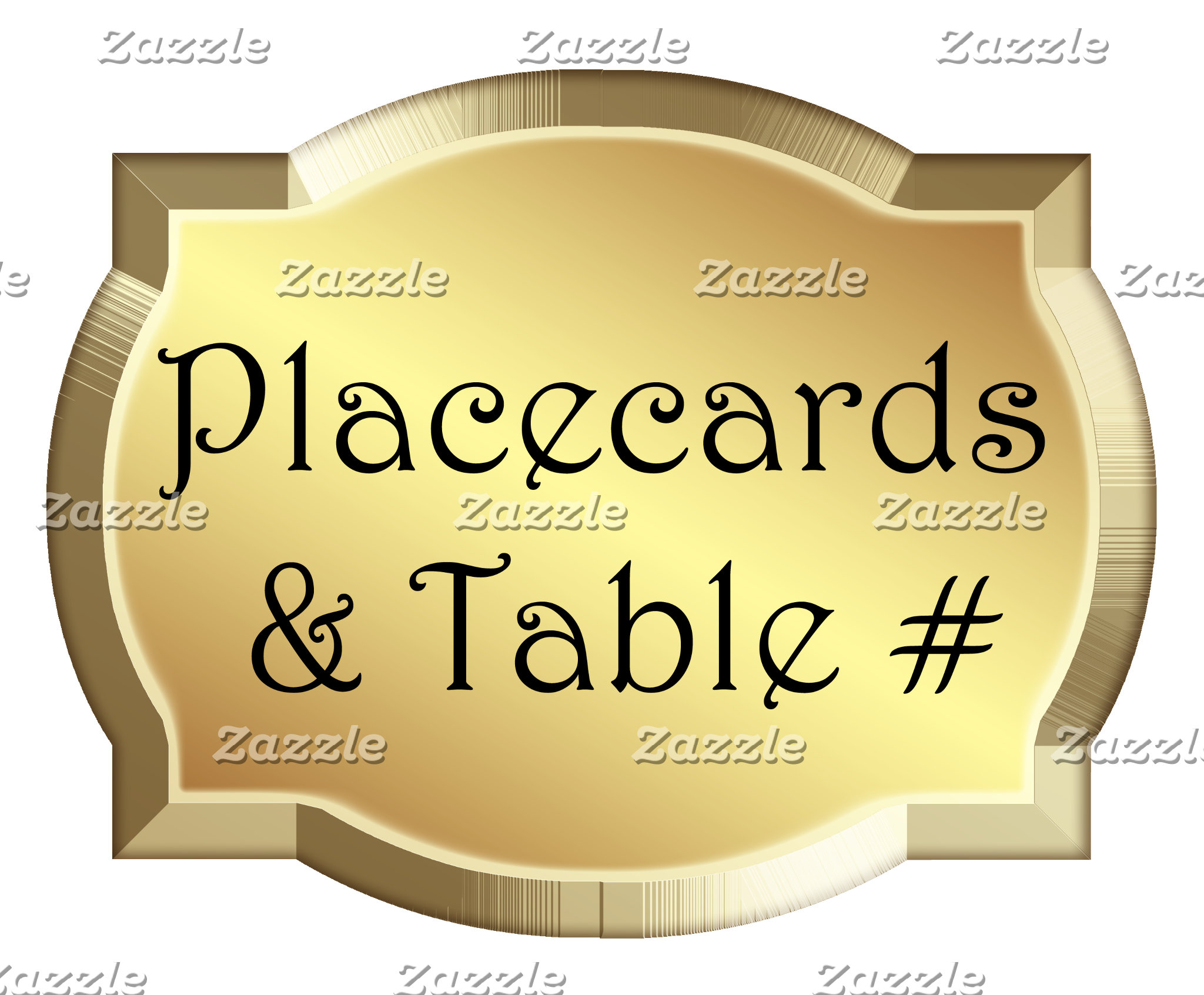 Placecards & Table Numbers