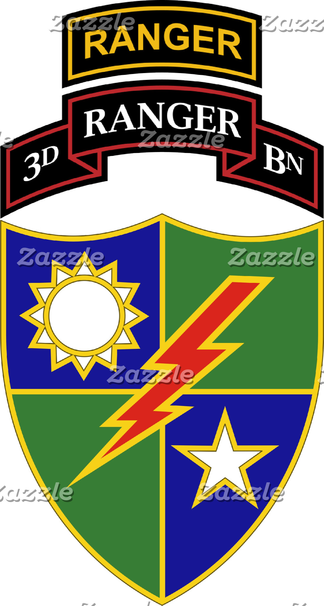 3rd Battalion - 75th Ranger Regiment w/ Ranger Tab