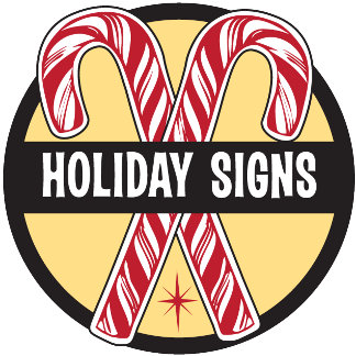 Holiday Signs Christmas Cards