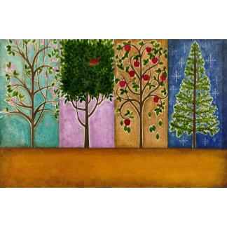 """4 Seasons Trees Poster Print"""