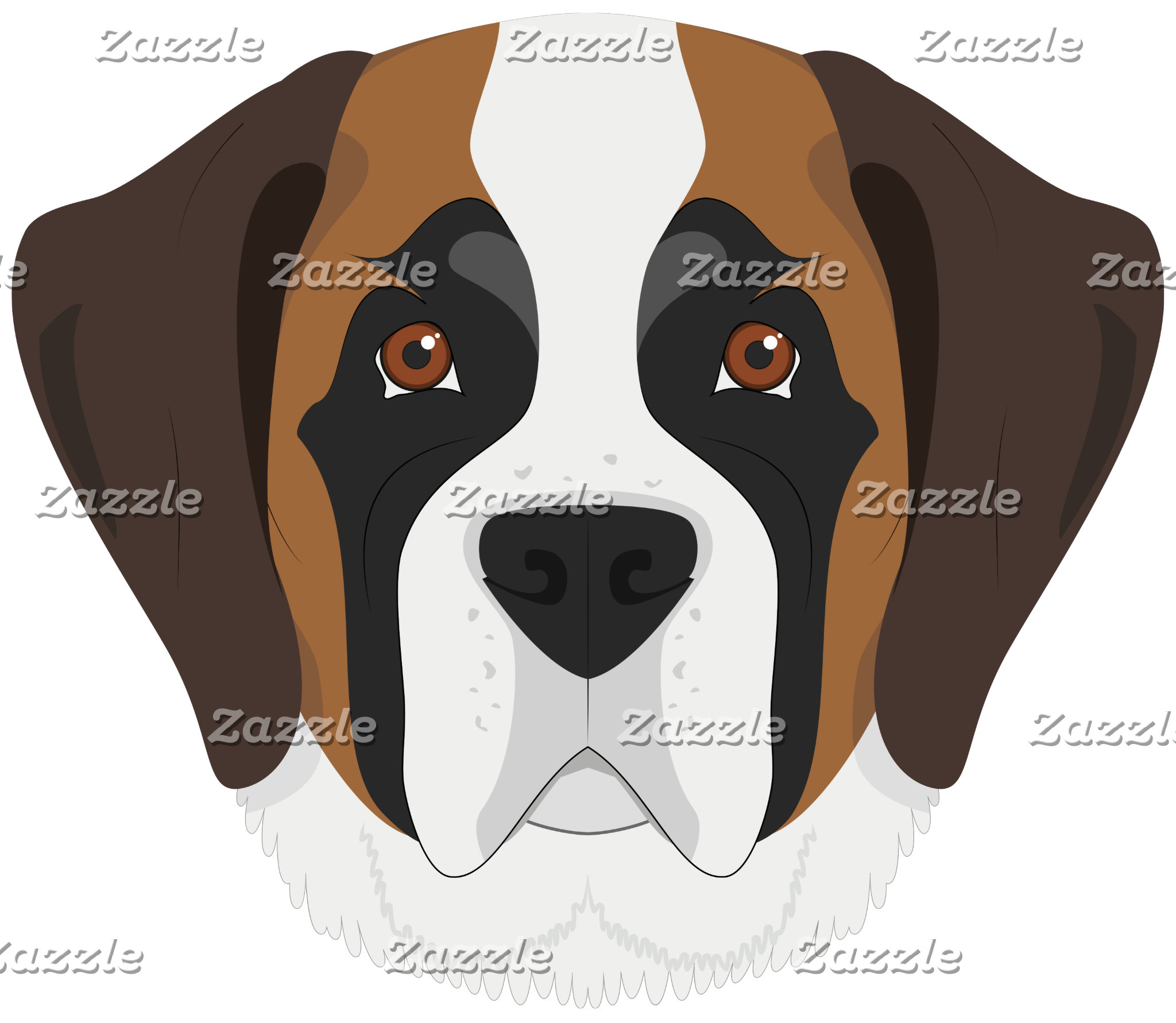 Saint Bernard Dog Portrait
