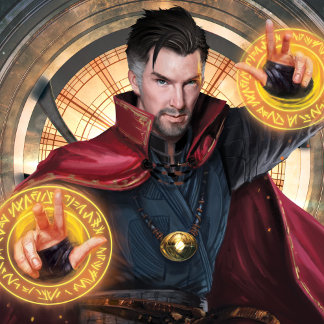 Doctor Strange Wielding Mandalas of Light