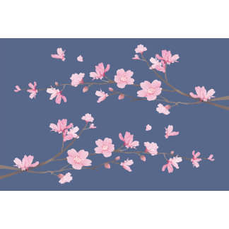 Cherry Blossom - Denim Blue