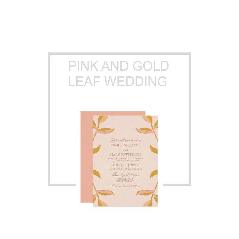 Pink Gold Leaf