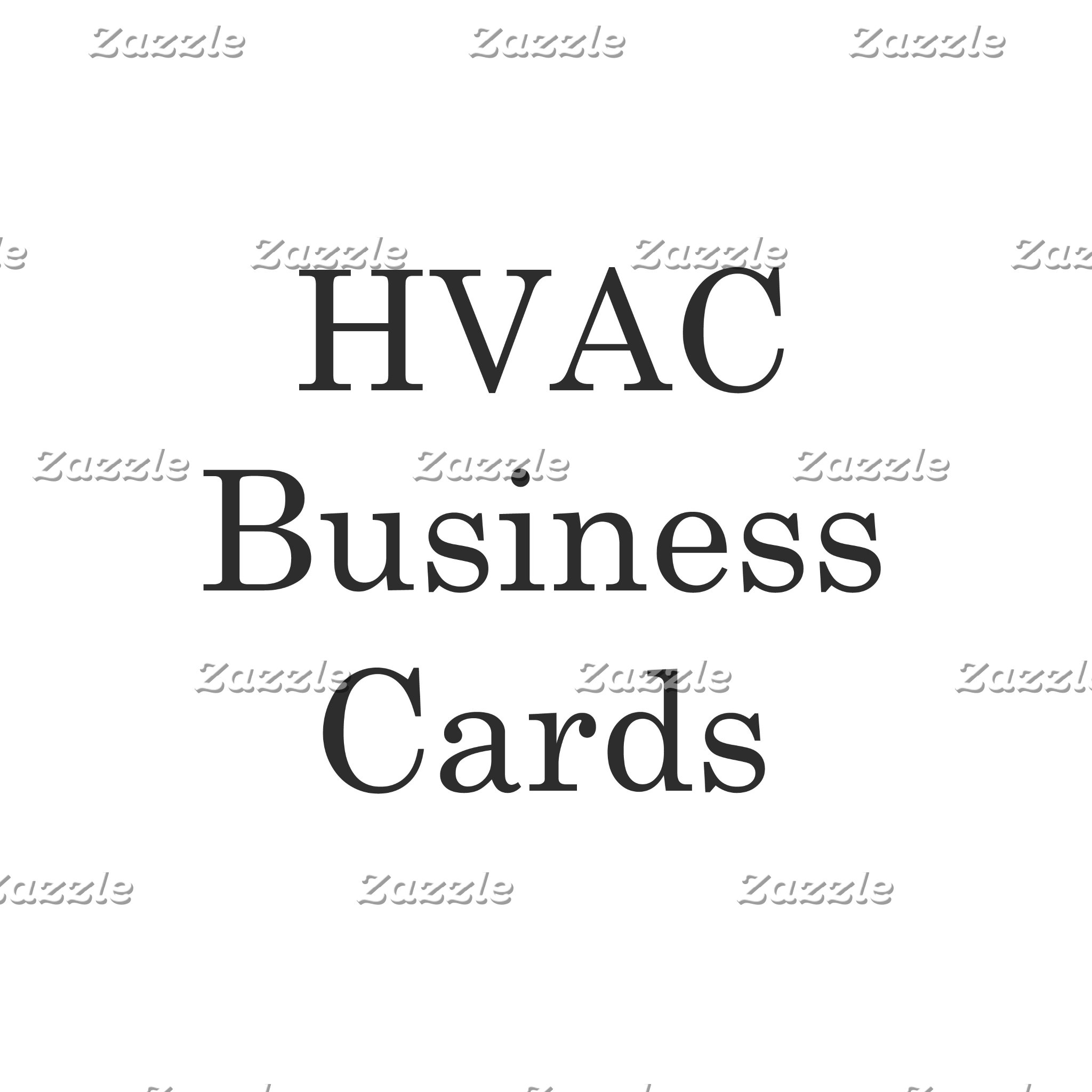HVAC Business Cards