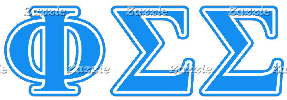 Phi Sigma Sigma Blue Letters