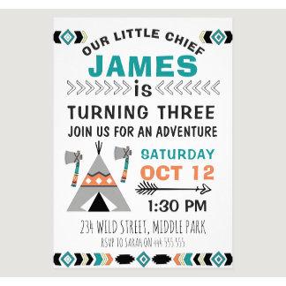 Boys Birthday Invitations