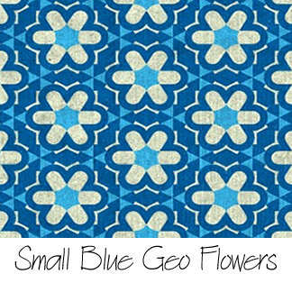 Small Blue Geo Flowers