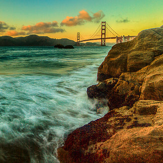 Sunset at Baker Beach