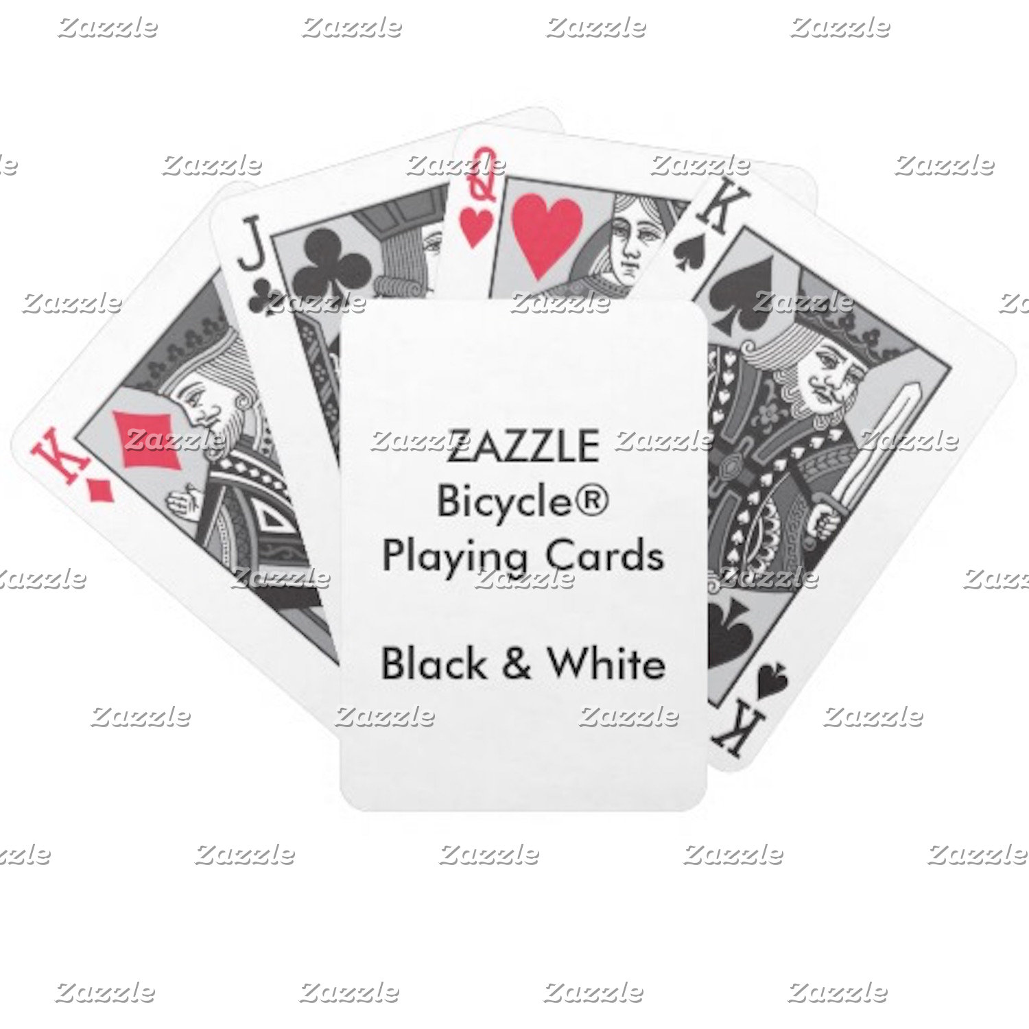 Bicycle® BLACK & WHITE Faces
