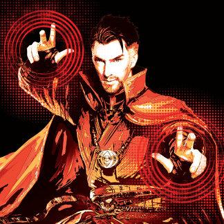 Doctor Strange Red Monochromatic Character Art
