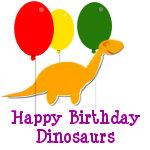 Happy Birthday Dino Products