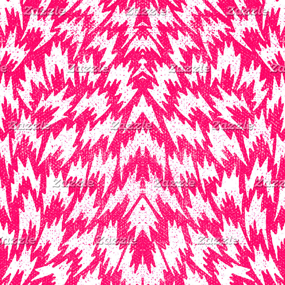 Psychedelic Neon Pink Abstract Geometric Pattern