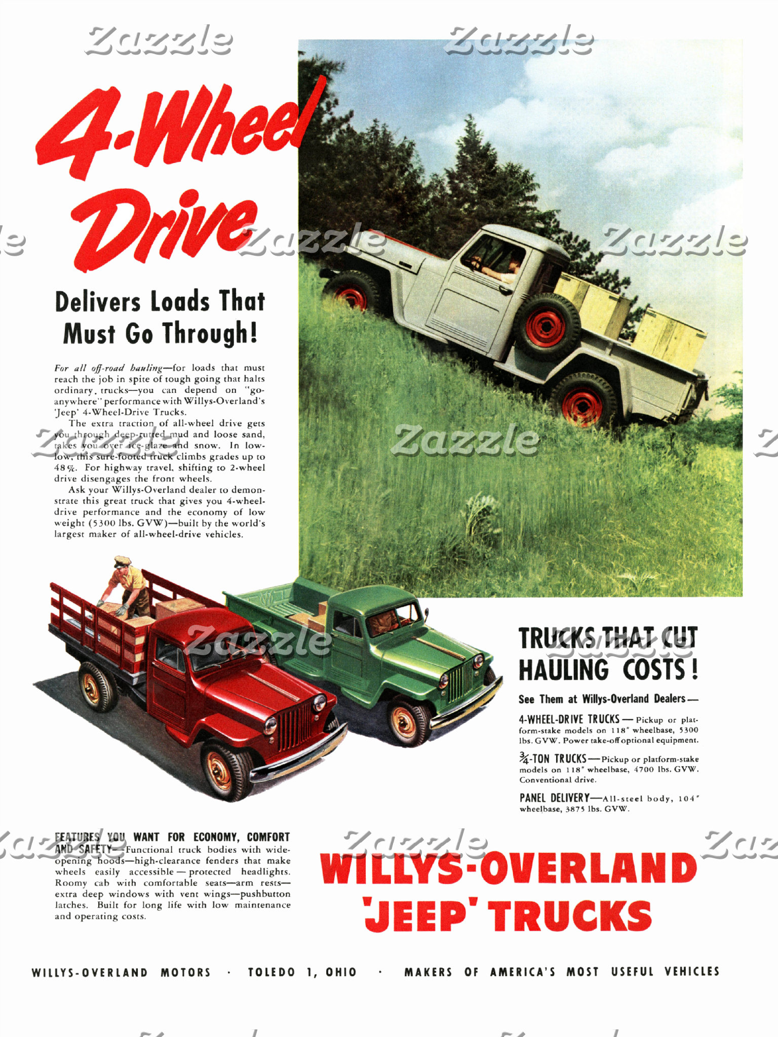 Vintage Truck Ads