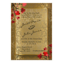 Beautiful Vintage Gold Damask Wedding