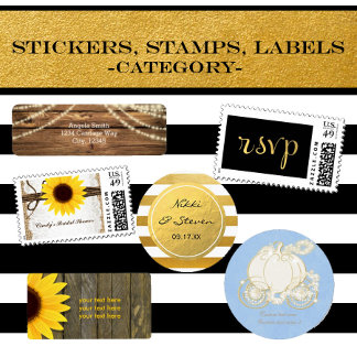 Stickers, Stamps, Labels