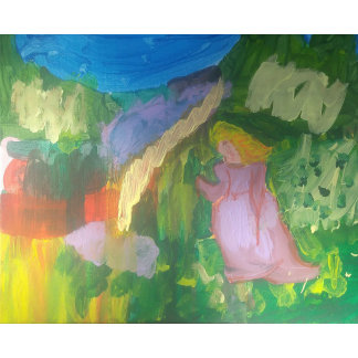"""Mademoiselle Gachet in the Garden"""