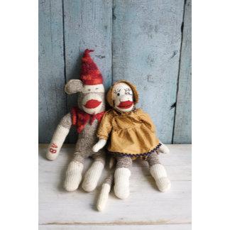 """Sock Monkey Couple Photo Poster Print"""