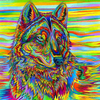 Psychedelic Wolf