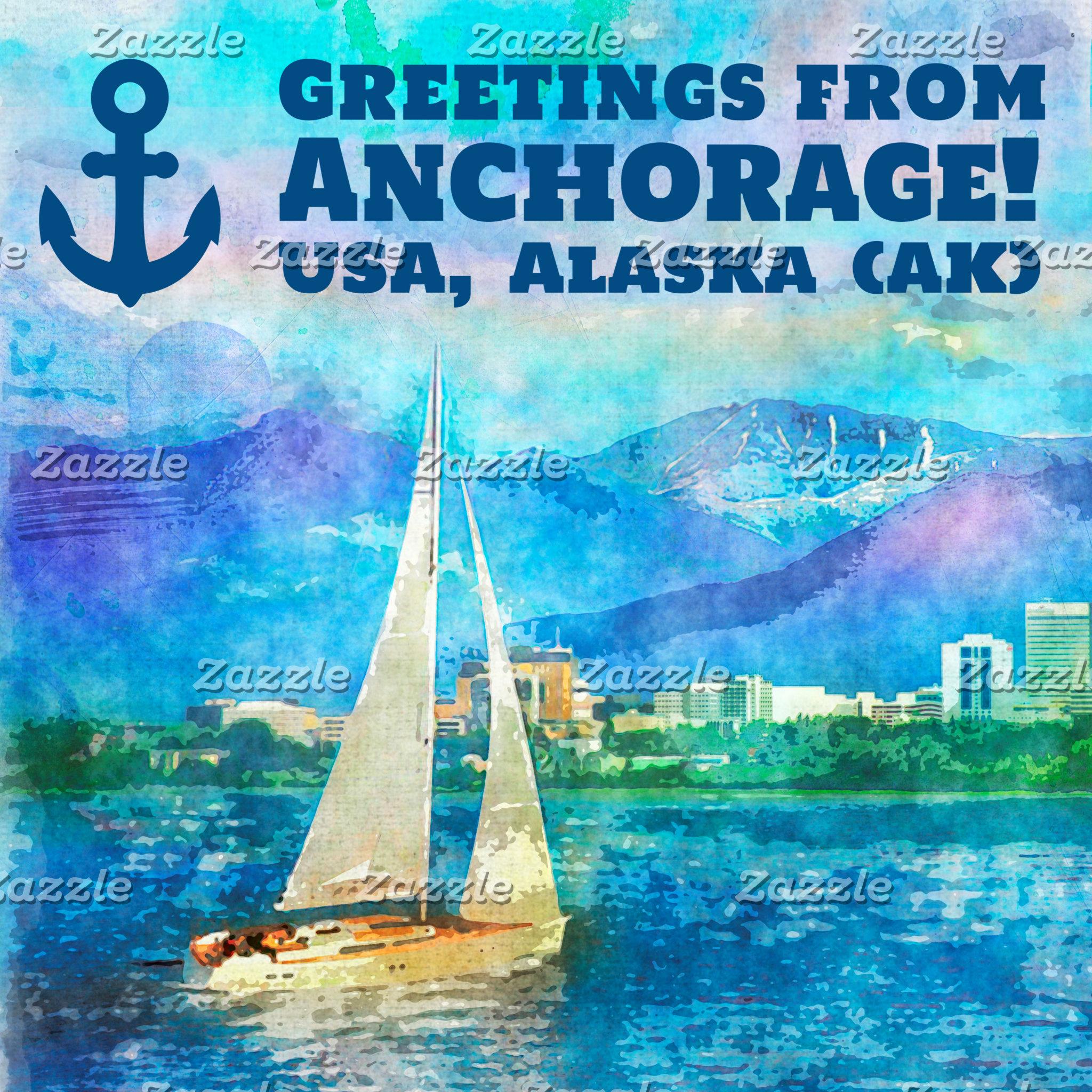 Anchorage Watercolor