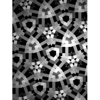 Black White Abstract Geometric Design