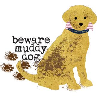 Beware Muddy Golden Retriever
