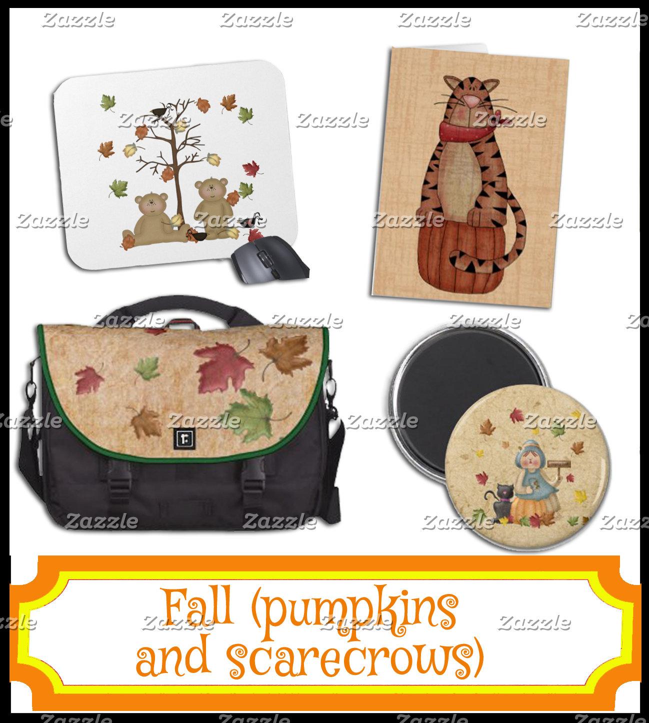 FALL - Pumpkins & Scarecrows