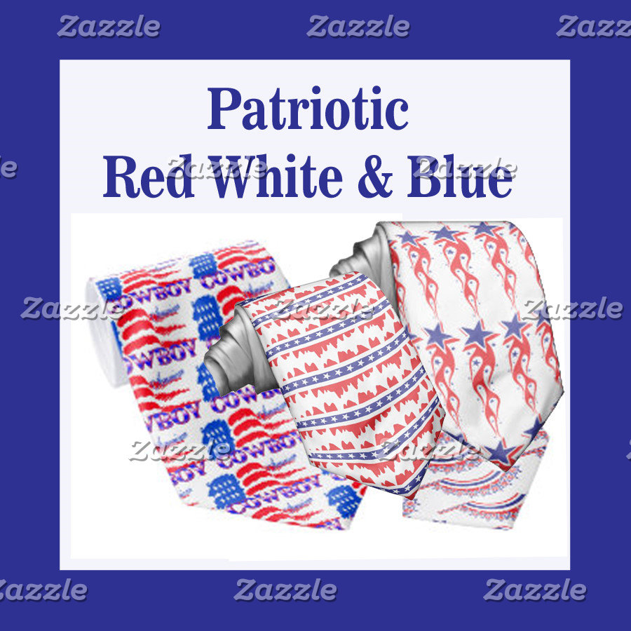 Patriotic Red White Blue